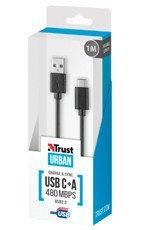 Trust Urban Przewód USB-C Typ A 480mbps 1m Czarny